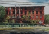 "The Beaver Mill - 1989<br>Pastel:  31"" x 44"""